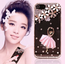 Lovely Crystal Flower and Dancing Girl for Iphone Case Cover 5 5S/ 4 4S