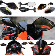 5 STYLE MOTORCYCLE LED TURN SIGNALS INTEGRATED INDICATOR REARVIEW RACING MIRRORS