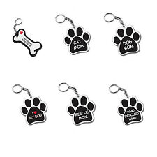Pet Gifts USA Dog & Cat Quotes Car Keychain Paw & Bone Shape Pet Love