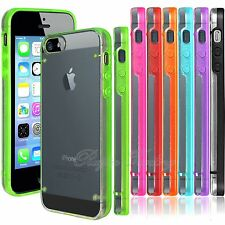 Ultra Thin Transparent Clear Hard Case Cover with TPU Frame For iPhone 5 5S 5G