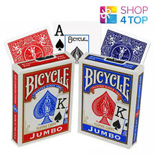 BICYCLE RIDER BACK JUMBO INDEX POKER PLAYING CARDS MAGIC TRICKS RED BLUE NEW