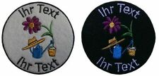 gardener  patch with your text 10cm embroidered logo (165)