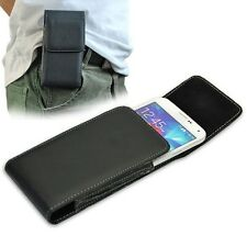 Black PU Leather Belt Clip Holster Pouch Case for Samsung Galaxy S5 I9600 G900