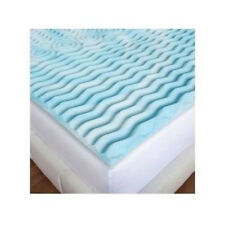"""NEW Mattress Topper Gel Foam Bed Pad 2"""" Orthopedic 5-Zone Support  CHOOSE SIZE"""
