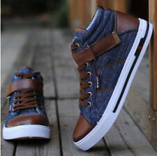 Hot Sale men fashion England Style High-top Shoes Casual Cowboy Board Shoe XZ110
