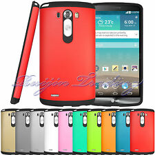Hybrid Rugged Impact Protective Hard Armor Case Skin Cover For LG G3 + Free Film