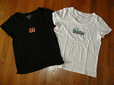 NFL Womans Short Sleeve Scoop Neck Tees Tops YOU CHOOSE Team, Color & Size NEW