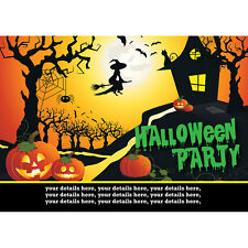 Personalised Halloween Party Invitations  Witch with free envelopes
