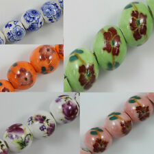 Wholesale Beautiful Hand-Painted Ceramic Gemstone Round Beads 6/8/10/12mm DIY