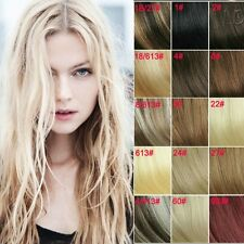 Full Head Set 22Inch/55CM Clip in Remy 100% Human Hair Extensions 80g 7PCS THIN