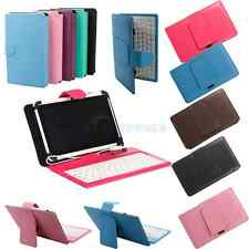 """PU Leather Case Cover with USB 2.0 Keyboard for 7"""" Android Tablet Multi Colors"""