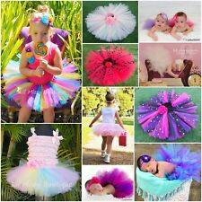TUTU SKIRT BALLET FAIRY PRINCESS COSTUME PARTY BABY TODDLER GIRL PROP CAKE SMASH