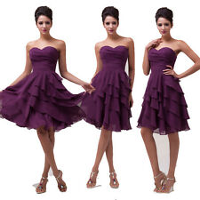 CHEAP SALE Strapless Pleated Prom Dress Evening Cocktail Tiered Dresses Gowns