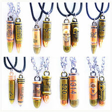 2PCS boy girl Necklace & pendent bullet Jewelry best friend christmas gift N364