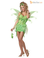 Deluxe Adult Womens Sexy Tinkerbell Fairy Fairytale Ladies Fancy Dress Costume