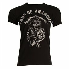 SONS OF ANARCHY MAIN LOGO COTTON T-SHIRT - AUTHENTIC LICENSED PRODUCT