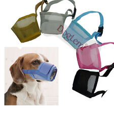 NYLON DOG MUZZLE Grooming No Bite Adjustable Guardian Gear Fabric Anti Small Big