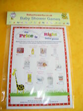 the price is right baby shower quiz game