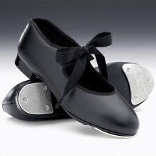 Capezio 'Tyette' 925 Low Heel Black PU Tap Shoes- Heel & Toe Taps Fitted