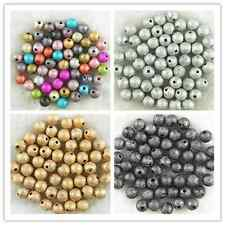 Acrylic Stardust Metallic Glitter Spacer Loose Beads 4mm, 6mm, 8mm ,10mm