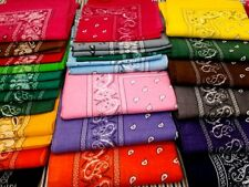 Lot Of 12 100% Cotton Paisley Print Scarf Bandanas Head Wrap Wristband Wholesale