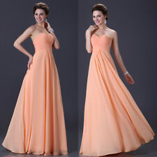 US ON SALE~~ Long Formal Bridesmaid Wedding Gown Pageant Evening Party Dresses