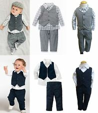 Baby Toddlers Boy Formal Pageant Suit, Shirt Pants Waistcoat Set 6M 1T 2T 3T 4T