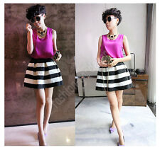 2014 Newest  Anthropologie Sexy Girls Scalloped Stripes Bell Ponte Skirts 4Color