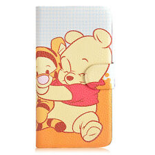 2014 Hot sale Winnie the Pooh Tigger PU leather Flip case cover for Sony 02