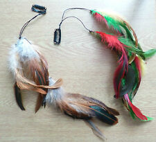 Sexy DOUBLE Feather Clip in/Feather hair streak/extension/ Festivals!