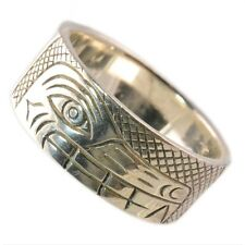 925 Sterling Silver Native Designed Wolf Ring