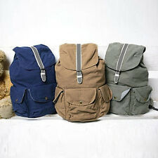 Mens Canvas Hiking Travel Casual Rucksack Backpacks Messenger Bag Schoolbag