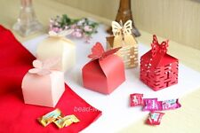 100Pcs Butterfly&double Happiness Favor Gift Box/Wedding Candy Box  Freedom Pick