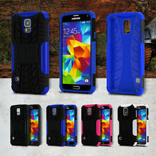 XTREME Shock Proof Heavy Duty Hybrid Case Cover for Samsung Galaxy S5 + Shield