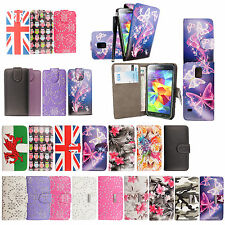 STYLISH STRONG SLIM LEATHER PU BOOK WALLET CASE COVER VARIOUS MOBILE PHONES PLUS