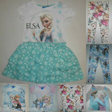 PRIMARK GIRLS DISNEY FROZEN T SHIRT TEE SHIRT TOP OR LEGGINGS AGE 1.5 - 8 YRS
