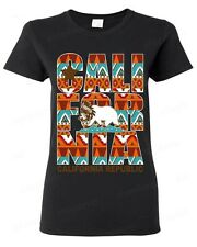 California Republic Indian WOMEN TSHIRT native state bear flag dream catcher tee