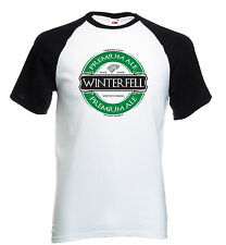 Game of Thrones Winterfell Ale Baseball T Shirt Stark Winter is Coming