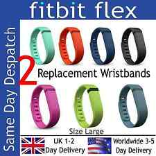 2 x Replacement Bands for Fitbit Flex Wireless Activity Wristband - SIZE LARGE