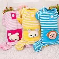 New Small Pet Dog Stripes Pajamas Jumpsuits Cat Puppy Clothes Apparel Clothing