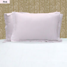 1000TC 100% EGYPTIAN COTTON SET OF 2 PINK PILLOW SHAMS CHOOSE SIZE AND COLOR