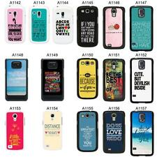 SAYINGS QUOTES COVER CASE FOR SAMSUNG GALAXY S2 S3 S4 S5 - MINI & MORE - A3