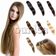 """Brazilian Straight 100% Remy Human Hair Weaving Weft Extensions 12""""-26""""100G"""