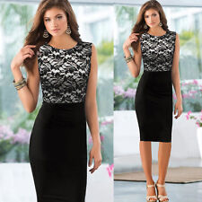 Black SALABLE CHEAP Bodycon Wear To Work Office Lady Evening Prom Party Dresses