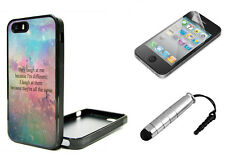 BUNDLE iPhone 5 5S 5C  Fitted Case Stylus Screen Protector Teen Different Quote