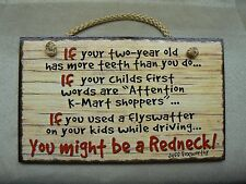 Highland Graphics JEFF FOXWORTHY You Might Be A Redneck If...Assorted Wood Signs