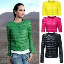 New Hot Womens Winter Warm Candy Color Thin Slim Down Coat Jacket Overcoat Parka