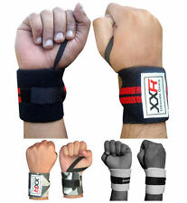 Power Weight Lifting Wrist Wraps Supports Gym Training Fist Straps Lifter 3-Cols
