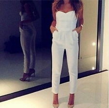 Sexy Womens Lady V Neck Sleeveless Bodycon Jumpsuit Romper Trousers Clubwear