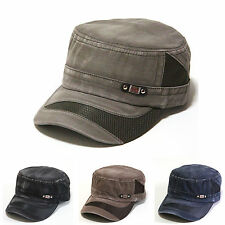Vintage Garment Washed Military Hats Army Cadet Mesh Cotton Cool Fabric Cap